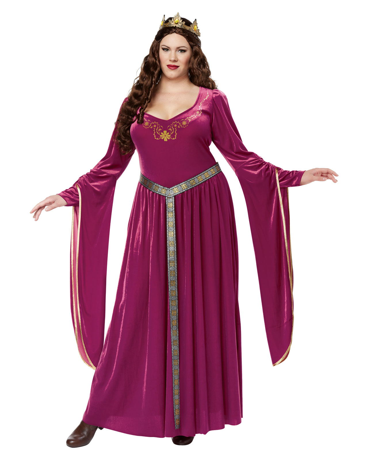 Renaissance Dress Plus Size: Women's Medieval Renaissance Game Of Thrones Long Pink